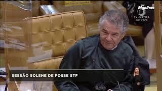 Marco Aurélio dirige-se a Bolsonaro na posse de Fux