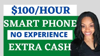 Get Paid $100 In 1 Hour + Smart Phone Side Hustle Anyone Can Do! Work From Home Jobs 2020
