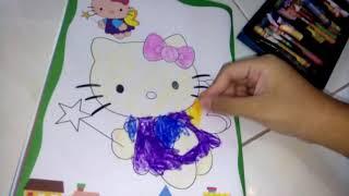 Đồ chơi trẻ em. Trò chơi tô màu mèo hello kitty