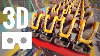 Rollercoaster SBS 3D VR Box High Fast Speed Roller Coaster Lycantrophe Planet Coaster not 360 video