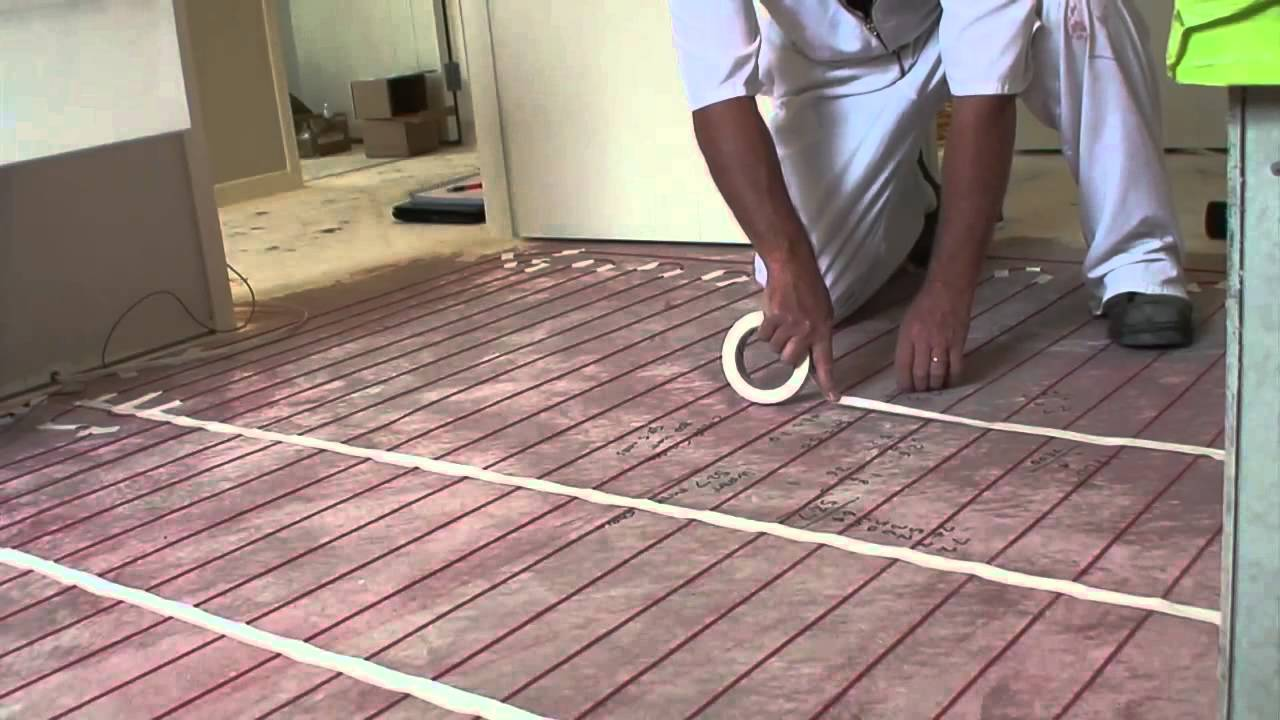 Warmfloor nz step 04 cable laying youtube for Step warm floor