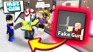 FUNNY FAKE GUN REACTIONS (Roblox Murder Mystery 2)