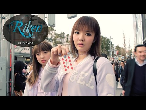 Surprising  girls with my shoe | street magic | Ying Tze and Hermes chan