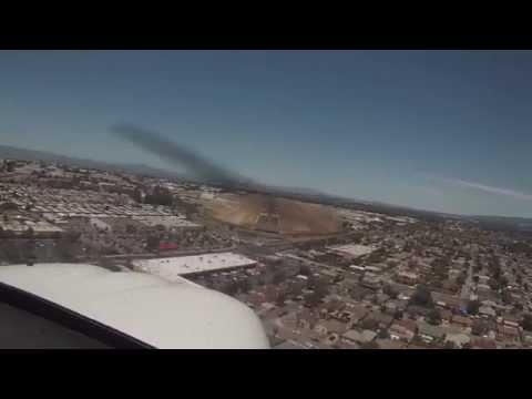 Landing Practice Palo Alto - Hayward with ATC+Intercome