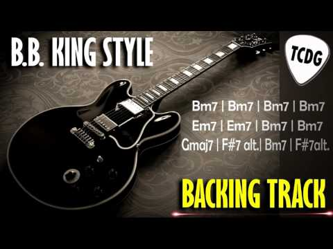 Blues Guitar Backing Track In The Style Of BBKing  B Minor Bm TCDG