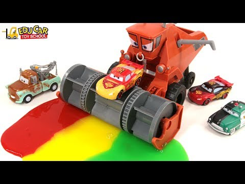 Thumbnail: Learning Color Number Special Disney Pixar Cars Lightning McQueen Mack Truck Slime for kids car toys