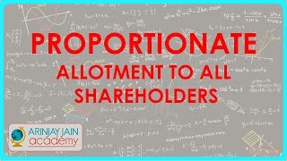 Oversubscription of shares - Proportionate allotment to all shareholders | Class XII Accounts