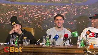 LiAngelo Ball stunned by a question in a press conference
