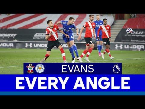 EVERY ANGLE | Jonny Evans vs. Southampton | 2020/21