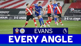 EVERY ANGLE   Jonny Evans vs. Southampton   2020/21