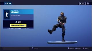 MES SKINS FAVORIS FONT The EMOTE PIEDTINANT FORTNITE/FR/PS4