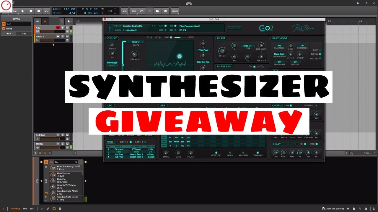 WIN A SYNTHESIZER PLUGIN! Rob Papen Go2 Giveaway | SYNTH ANATOMY
