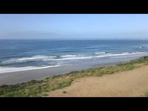 Beach at the end of Del Mar Heights road San diego California January 1080P 00138