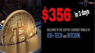USI Tech:$356 in 3 days