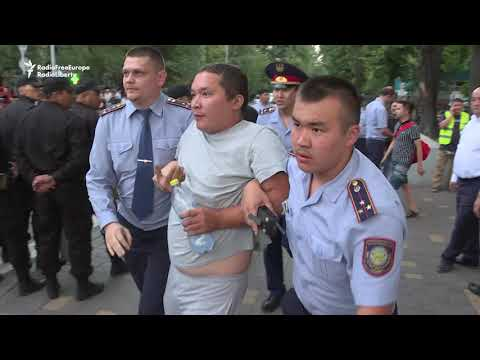 Dozens Detained In Kazakhstan's Largest City On Ex-Leader's Birthday