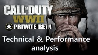 Call of Duty: WWII - Technical analysis including framerates PS4Pro/PS4