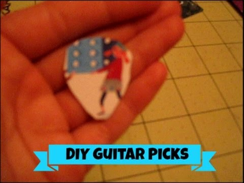 how to make cute guitar picks youtube