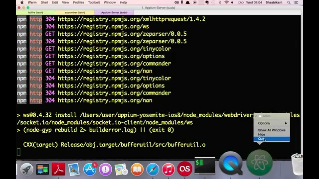 Adventures with iOS Automation using Appium on OSX and iOS
