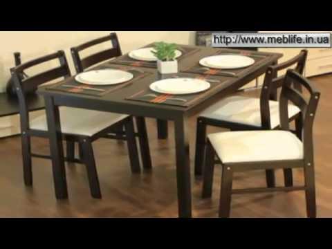 Комплект Тоскана стол обеденный 1100x700 со стульями 4