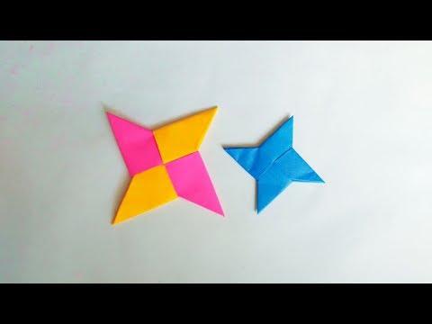 How To Make Origami Paper Ninja Star | DIY