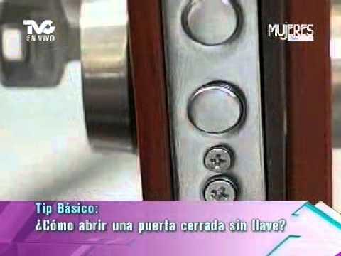C mo abrir una puerta cerrada sin llave metvc youtube - Abrir puerta sin llave clip ...