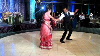 Baaqars & Malini Reception Dance Performance.AVI