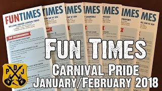 Carnival Fun Times - Daily Event & Activity Schedule - Carnival Pride Jan/Feb 2018 - ParoDeeJay