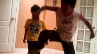 Monkey beating