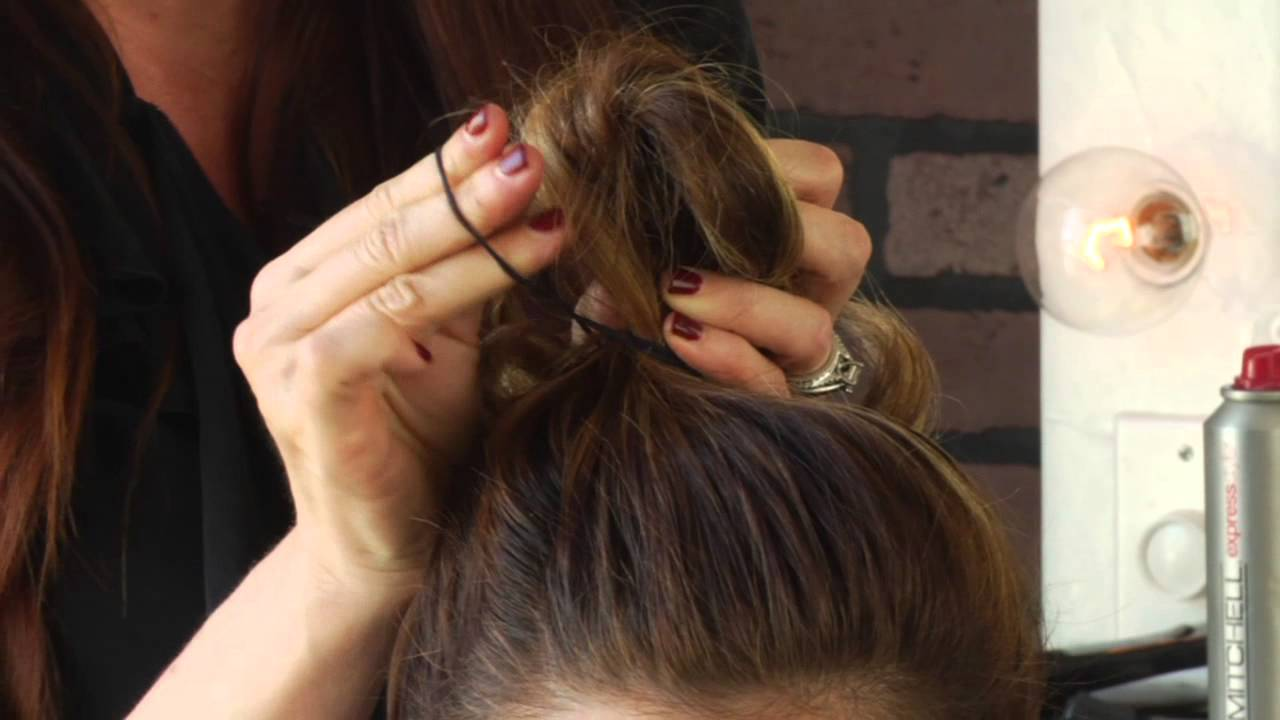 easy cute updo hairstyle