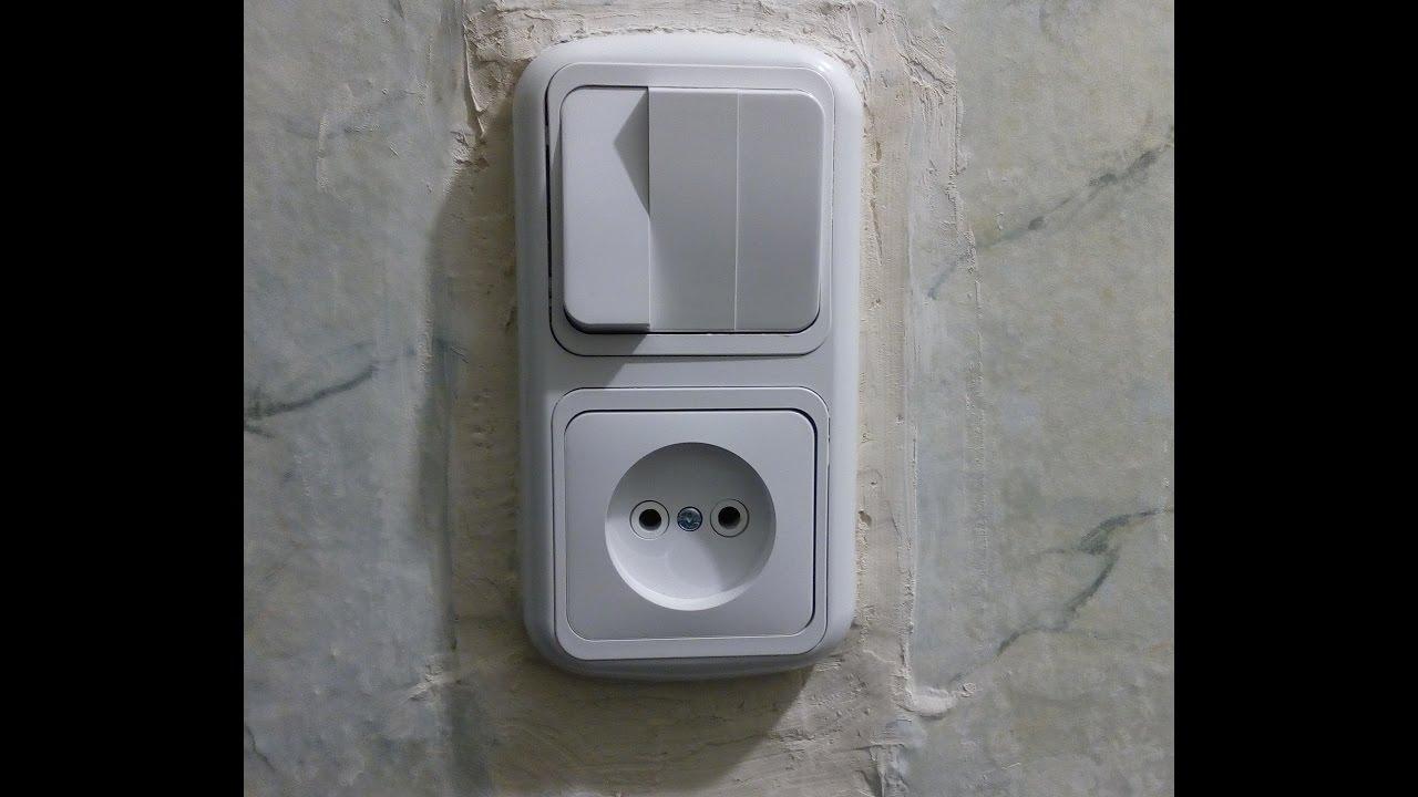 схема подключения выключателя и розетки с лампочкой