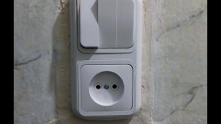 видео схема подключения розетки и выключателя