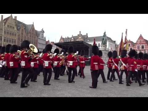 GRENADIER GUARDS IN BRUGES/BELGIUM 3.9.2016 : DAY 2  #visitbruges