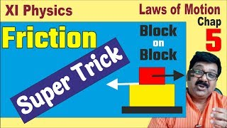 Super Trick on Friction, Class 11 Physics Chapter 5, JEE, NEET, arvind academy