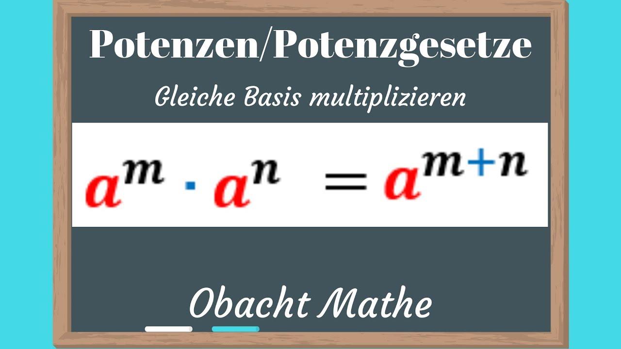 POTENZEN: 1. Potenzgesetz (Übungen mit Lösungen vorgerechnet ...