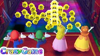 Mario Party 10 Minigames Luigi vs Mario vs Peach vs Daisy Master Cpu