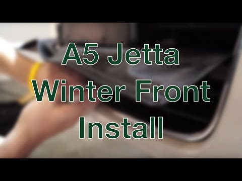 A5 Jetta Winter Front Install
