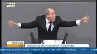 Gregor Gysi spricht mal etwas klarer - sehr ungewohnt im Bundestag