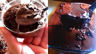 #تحلية و كيك 2 في 1 مليانة شوكولاته لعشاق الشوكولا 🔝يا سلام  لذة لا تقاوم