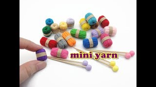 DIY Doll Accessories Mini Yarn & Knitting Needles - Easy