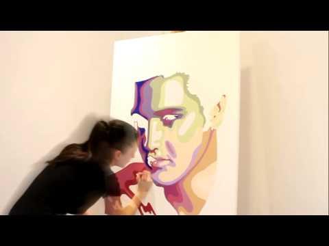 Elvis Presley painted by artist Elisabetta Fantone (Speed Painting)