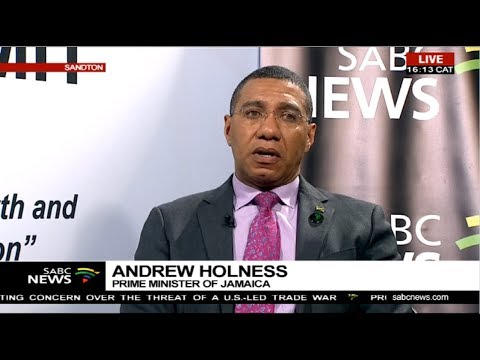Jamaica Prime Minister Andrew Holness on...