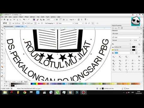 Cara membuat logo Tut Wuri Handayani dengan corelDRAW.