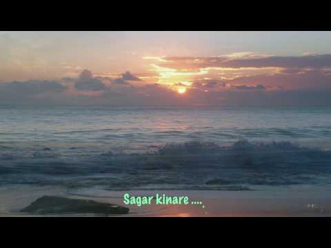 Sagar Kinare Dil Ye Pukare Instrumental With Lyrics