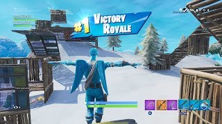 new snow map christmas snow event gameplay showcase first win on - fortnite cinematic pack season 7