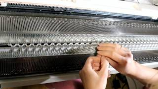 Ангора белая Перед На вязальной машине  МК (knitting machine)