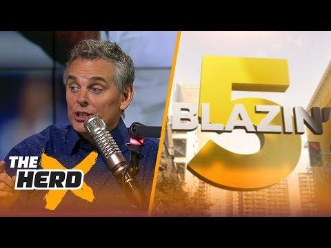 Blazin' 5: Colin's picks for 2017-18 NFL Week 7   THE HERD