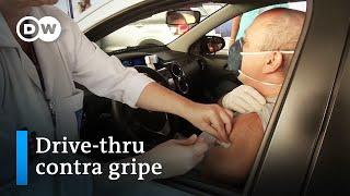 Em Tempos De Coronavírus, Cidades Brasileiras Oferecem Vacinação Contra Gripe Por Drive-thru