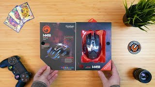 Marvo M418 GAMING MOUSE - UNBOXING - 4K