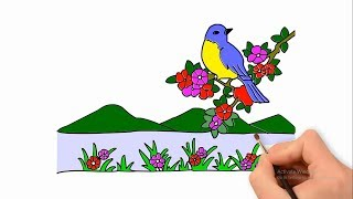 How to draw a scenery and very nice nature
