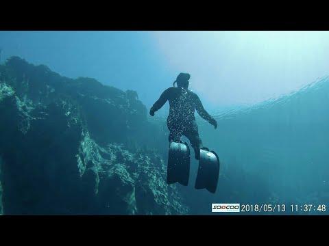 Голубое Озеро Самарская область . Сенот в России. Ныряю  на задержке дыхания на голубом озере.